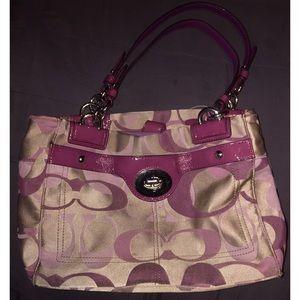 COACH PENELOPE OPTIC Bag purse F17140 KHAKI/BERRY